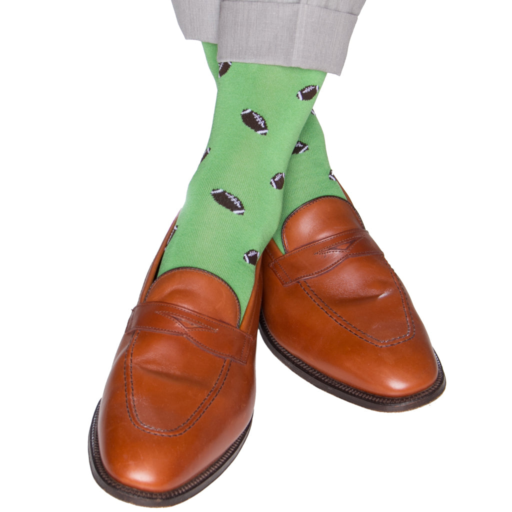Green-Football-Sock
