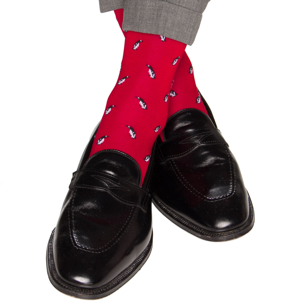 Red-Penguin-Sock