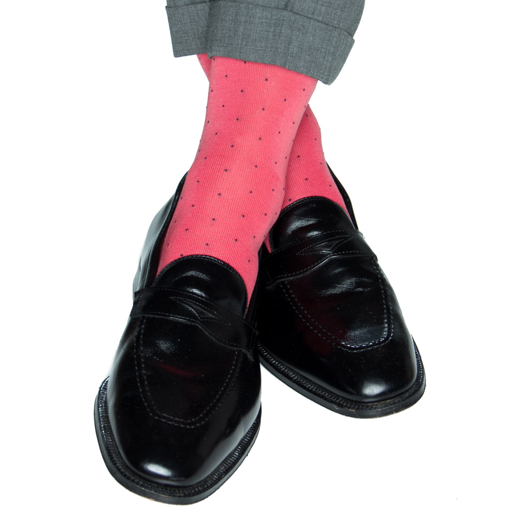 Mens-Pindot-Sock