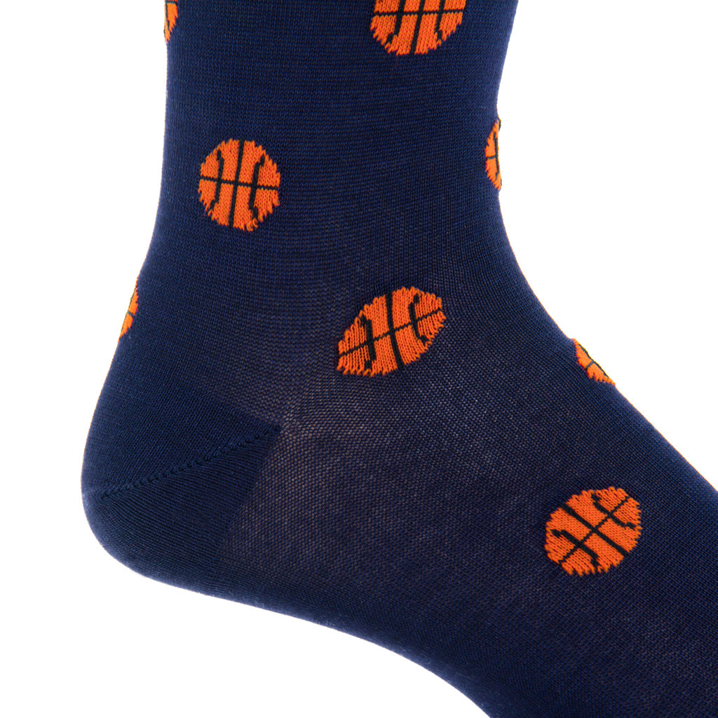 Navy-Basketball-Sock