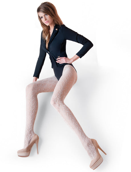CASHMIR art. 105 herringbone patterned 200 DEN cotton tights