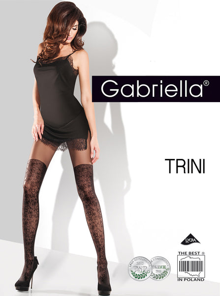 TRINI mock suspender tights