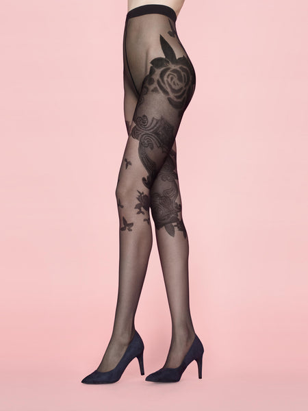 MUSE 20 DEN patterned tights