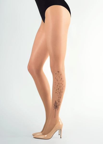 MUSICAL DANDELION TATTOO 20 DEN Sheer tights