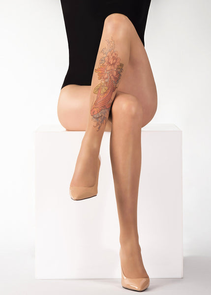 FISH N'FLOWERS TATTOO 20 DEN Sheer Tights