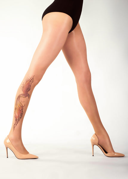 FIREBIRD TATTOO 20 DEN Sheer Tights