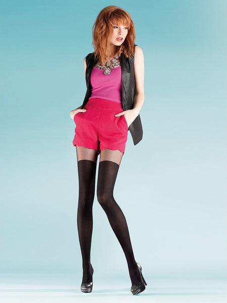 PATY mock suspender tights