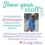 Show Your Stoff February 2017 Winner