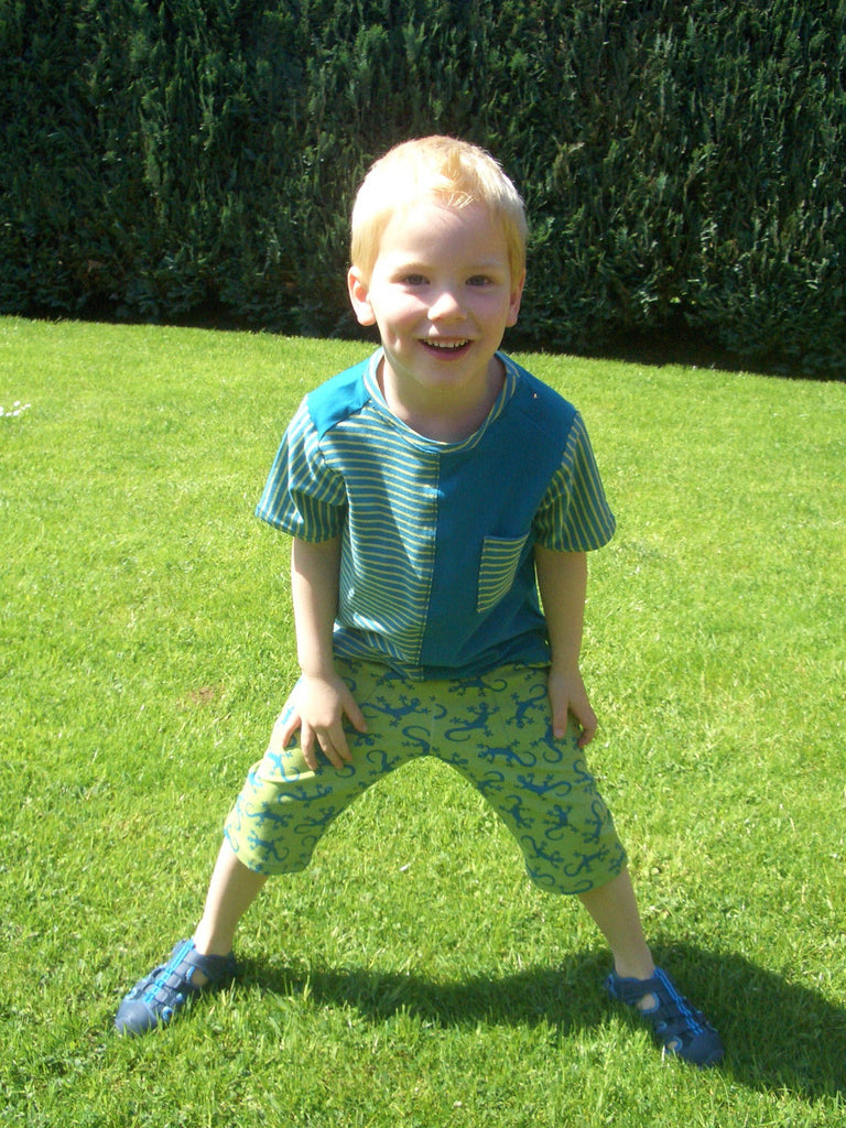 FIETE - shirt pattern, short or long sleeve - with a round or V-neck, sizes 110 - 152 (5-12 yrs.)