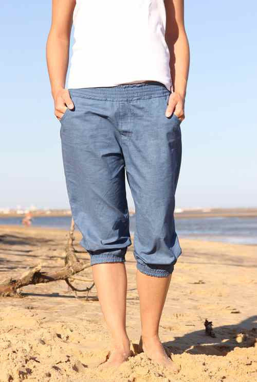 NICKIs baggy trouser pattern (3/4 length optional), sizes 158-42 (Kids M - women´s L)