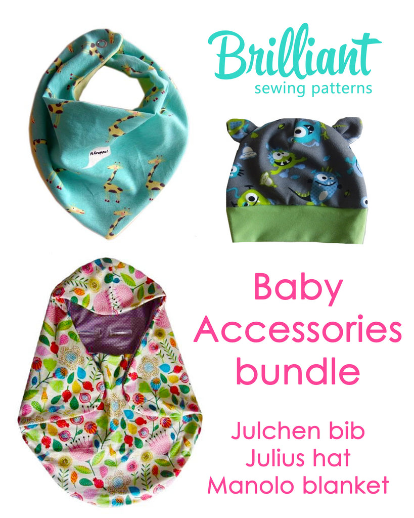 Baby accessories 3 pattern bundle PDF sewing pattern