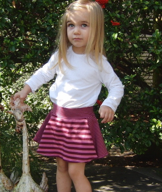 LAILAs flared skirt / jersey skirt pattern, sizes 62-104 (6 mo. - 4/5 yrs.)