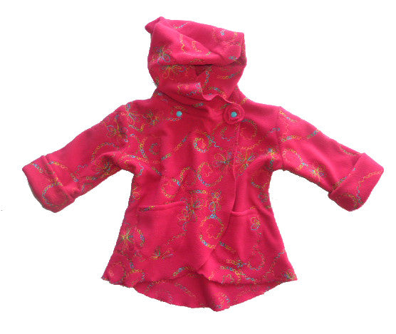 LILIAs jacket (with a flower) pattern, sizes 62-104 (6 mo. - 4/5 yrs.)