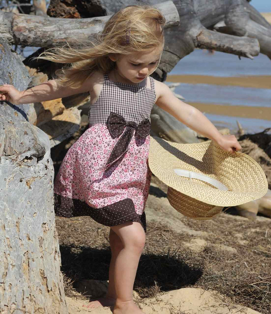 Alina summer dress with bow PDF sewing pattern