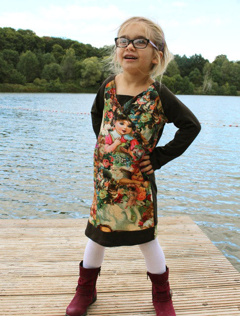 Sanea raglan dress PDF sewing pattern