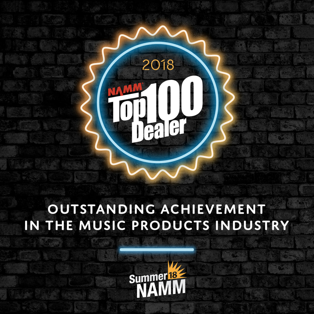Backstage Named 2018 NAMM Top 100 Dealer
