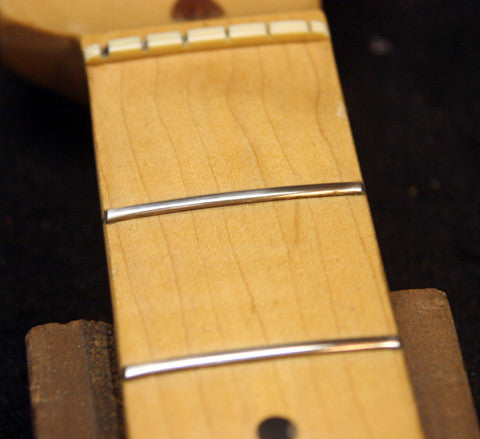 Fortunately Tony Has That Experience Once He Was Done Smoothing Crowning Leveling The Frets Finished Job Looked Like This