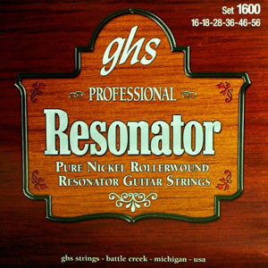 GHS Pure Nickel 16-56 Resonator Strings