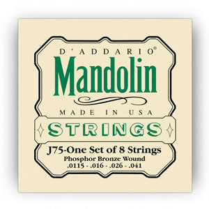 D'Addario J75 Phosphor Bronze11.5-41 Mandolin Strings