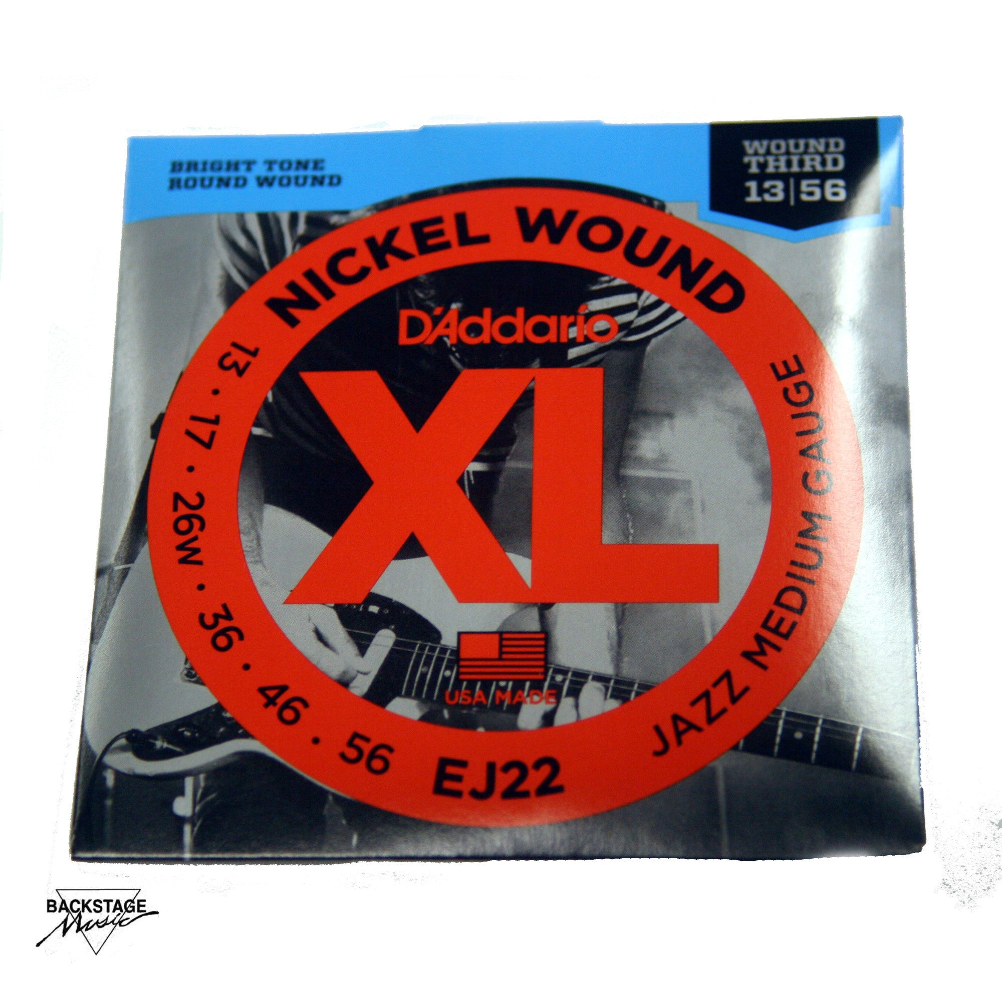 D'Addario EJ22 13-56 Jazz Medium Electric Guitar Strings