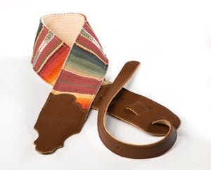 "Franklin Straps, 3"" Saddle Blanket Strap With Caramel Leather Ends"
