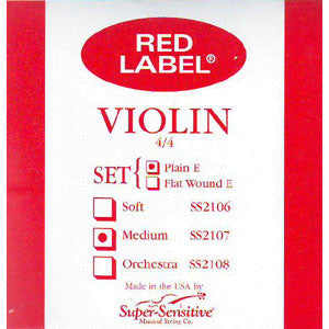 Violin, Red Label 4/4 Set