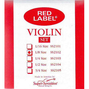 Violin, Red Label  1/8 Set