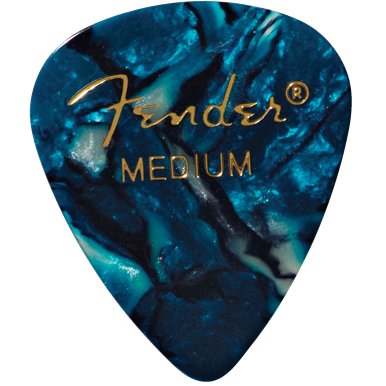 Fender 351 Medium Ocean Turquoise Pick Pack (12 Pack)