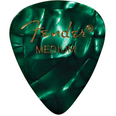Fender 351 Medium Green Moto Pick Pack (12 Pack)