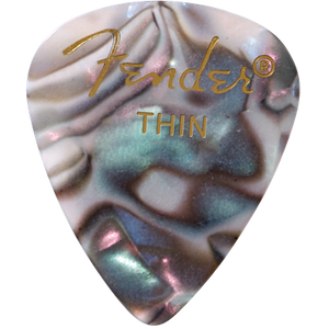 Fender 351 Thin Abalone Pick Pack (12 Pack)