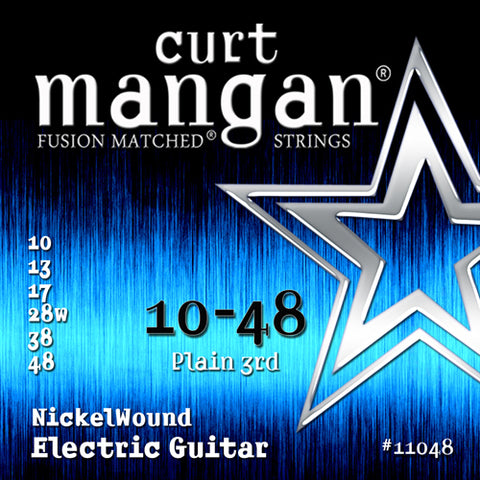 Curt Mangan 10-48 Nickel Wounds 10-48 Electric Guitar Strings