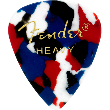 Fender 351 Confetti Heavy Pick Pack (12 Pack)