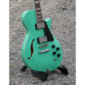 LTD Xtone Semi-Hollow Body Electric Guitar, Sea Foam Green  (NEW)
