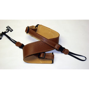 "Franklin Strap, Banjo, 2.5"" Caramel Leather"