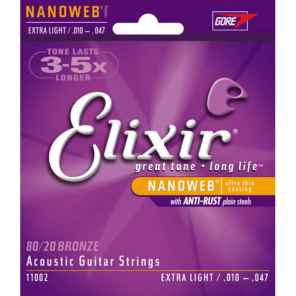 Elixir Nano  Acoustic Guitar Strings Extra Light 10-47