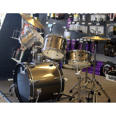 "Pearl Roadshow 20"" Bronze Metallic 5 Piece Kit, Complete, Tuned, Assembled"