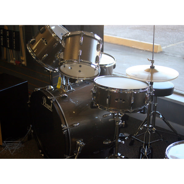 "Pearl Roadshow 22"" 5 Piece Drum Kit, Bronze Metallic, Assembled, Tuned, Ready To Play"