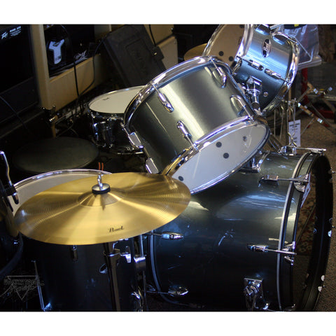 Pearl Roadshow 5 Piece Drum Kit, Charcoal Metallic, Assembled, Tuned, Complete
