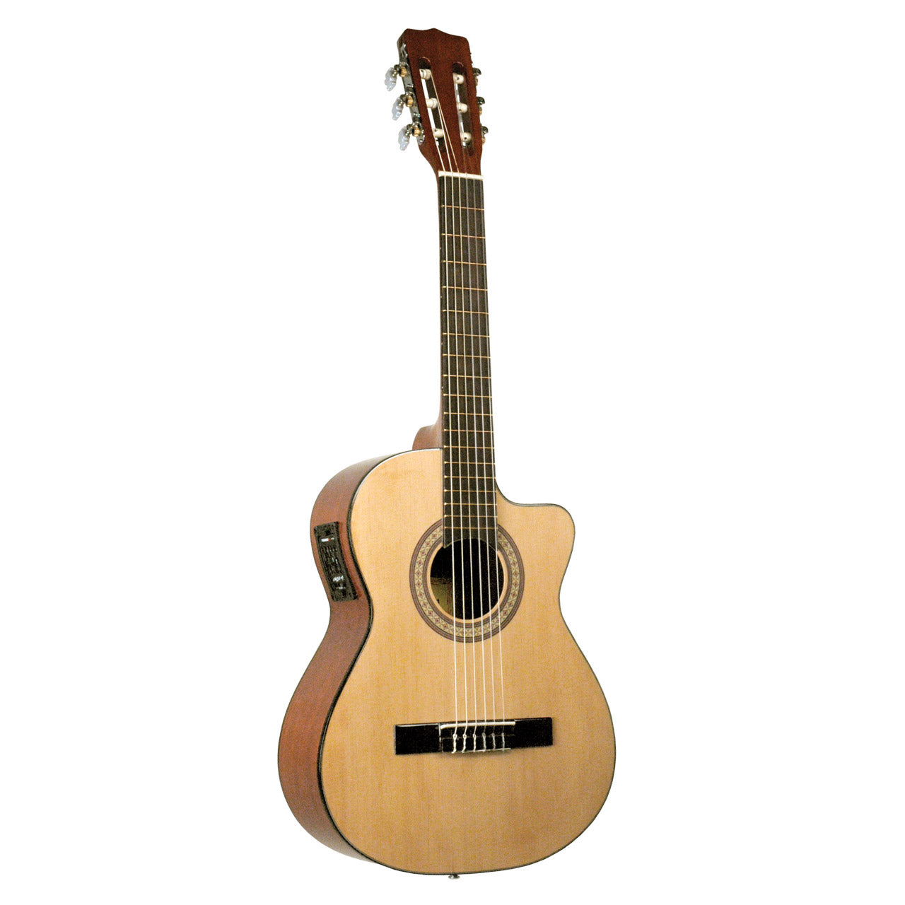 Lucida Requinto Solid Top w/EQ With FREE Extra Set Of Strings