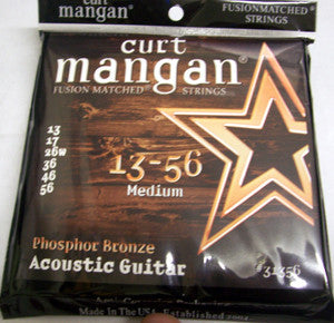 Curt Mangan 13-56 Phosphor Bronze Medium Acoustic Guitar Strings