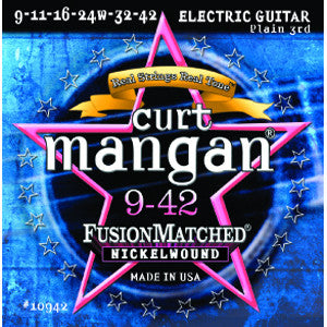 Curt Mangan  9-42 Nickel Wound Electric Guitar Strings
