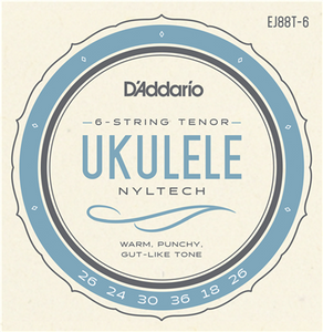 D'Addario Nyltech Strings For 6 String Tenor Ukulele