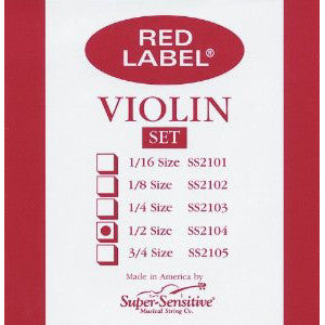 Violin, Red Label 1/ 2 Set
