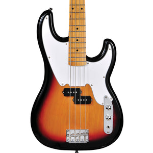 Tagima 4 String Bass TW-66 Sunburst, White Pickguard