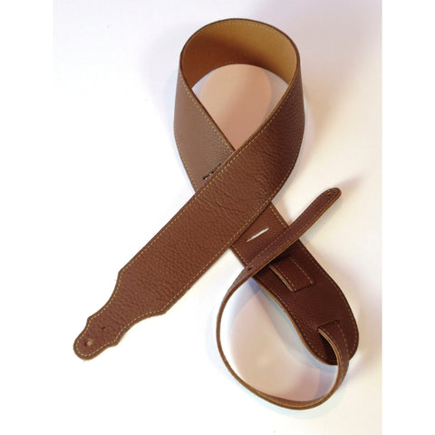"Franklin Strap, 2.5"" Pure Glove Leather, Caramel"
