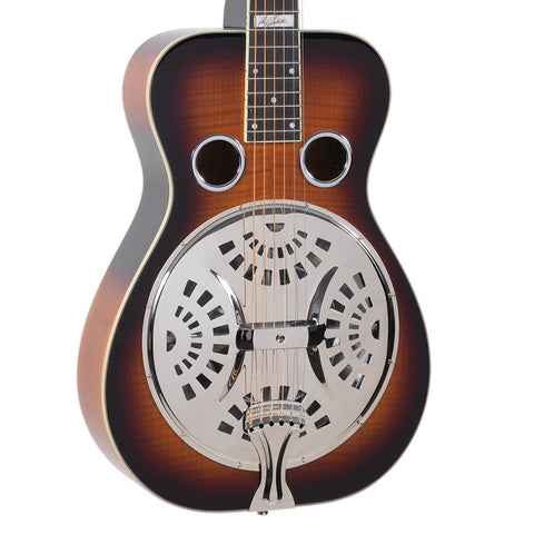 Recording King Phil Leadbetter Flame Maple Resonator FREE Gig Bag