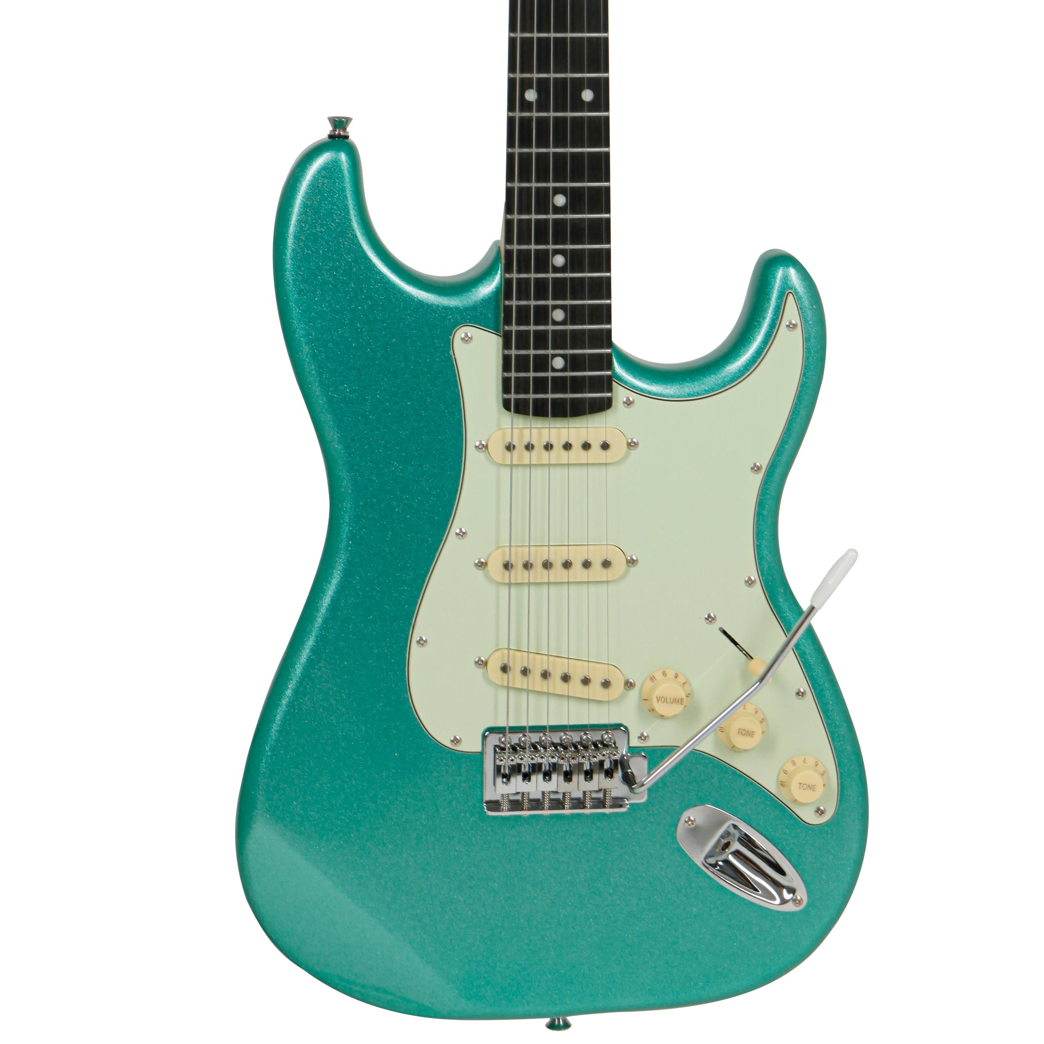 "Tagima TG-500 ""S"" Style Electric Guitar, Metallic Surf Green"
