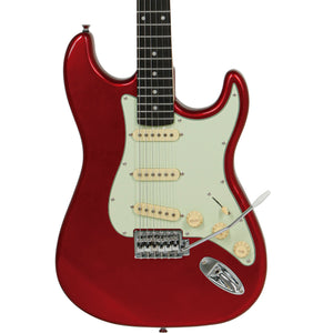 "Tagima TG-500 ""S"" Style Electric Guitar, Candy Apple Red"