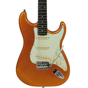 "Tagima TG-500 ""S"" Style Electric Guitar, Metallic Gold Yellow"