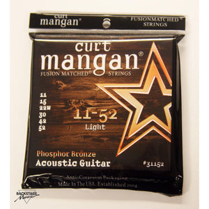 Curt Mangan Phosphor Bronze Light Acoustic Guitar Strings 11-52